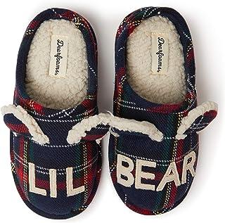 Kids' Family Collection Kids & Toddler Bear Tartan Plaid Clog Slipper