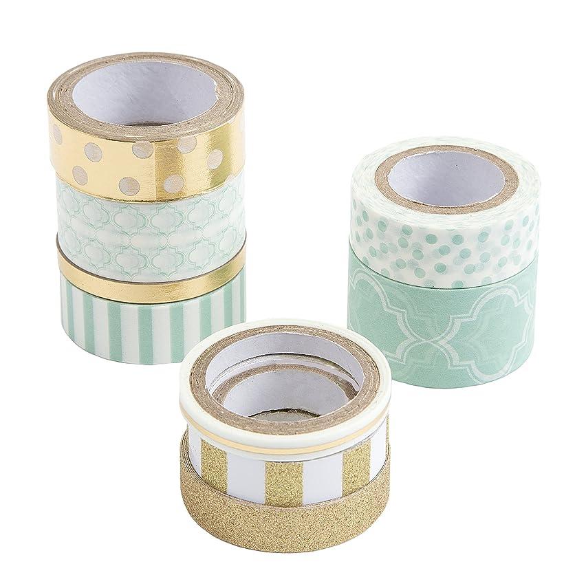 Darice Mint Washi Tape Assortment
