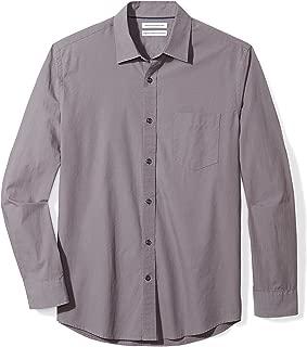 Men's Regular-Fit Long-Sleeve Solid Casual Poplin Shirt