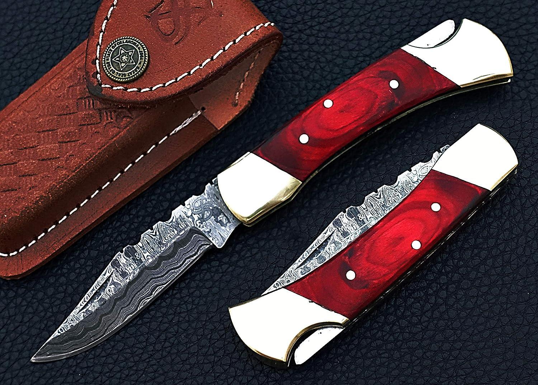 Smart Sharp Custom Handmade Limited time sale Damascus Folding Steel At the price Knife Pocke