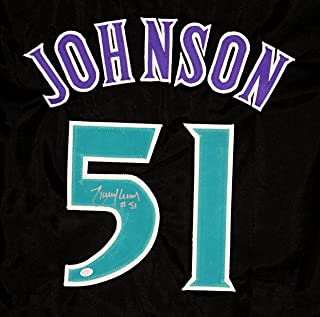 Randy Johnson Arizona Diamondbacks Signed Autographed Black #51 Custom Jersey PAAS COA