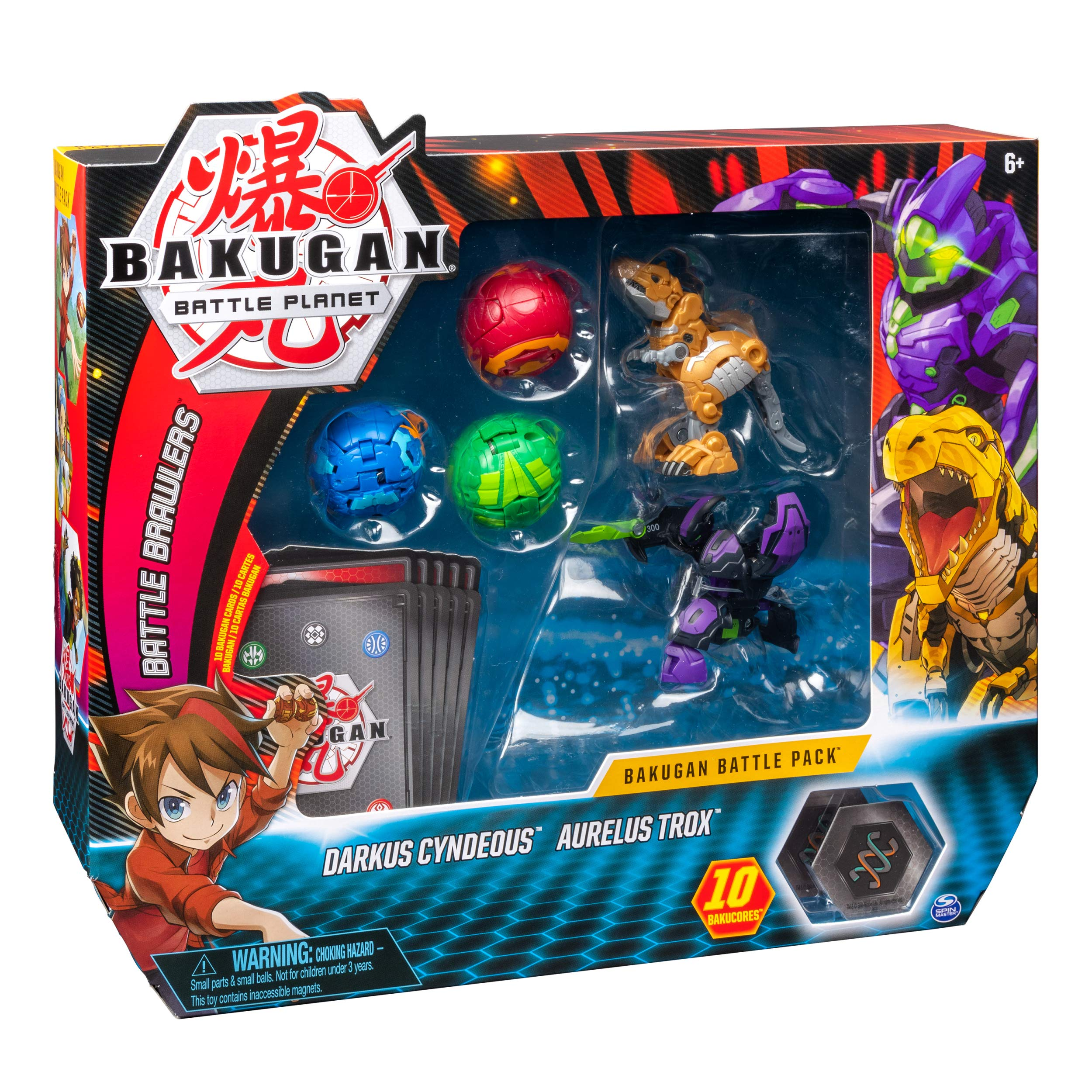 Spin Master Bakugan Battle Pack 5-Pack - Darkus Cyndeous and ...