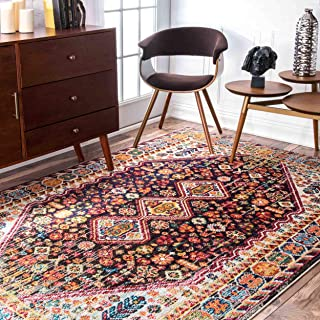 nuLOOM Meadow Vintage Vibrant Area Rug, 10' x 14', Black