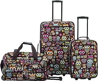 3 Pc Luggage Set, Owl