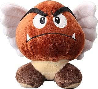 uiuoutoy Super Mario Bros. Flying Goomba Plush Toy Stuffed Animal Doll 5''