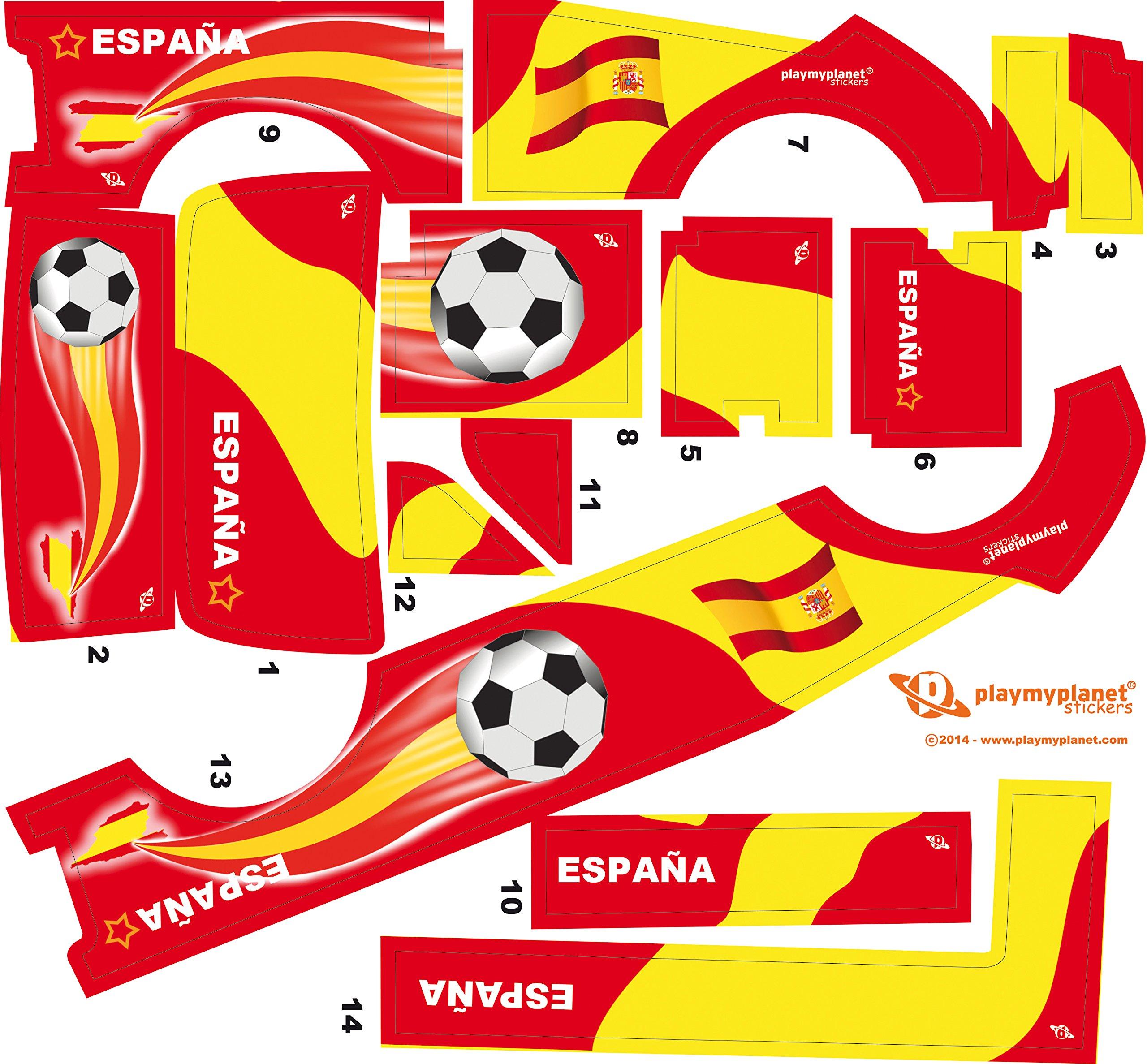 Stickers Adhesivos de Playmyplanet Fútbol España Compatibles con ...