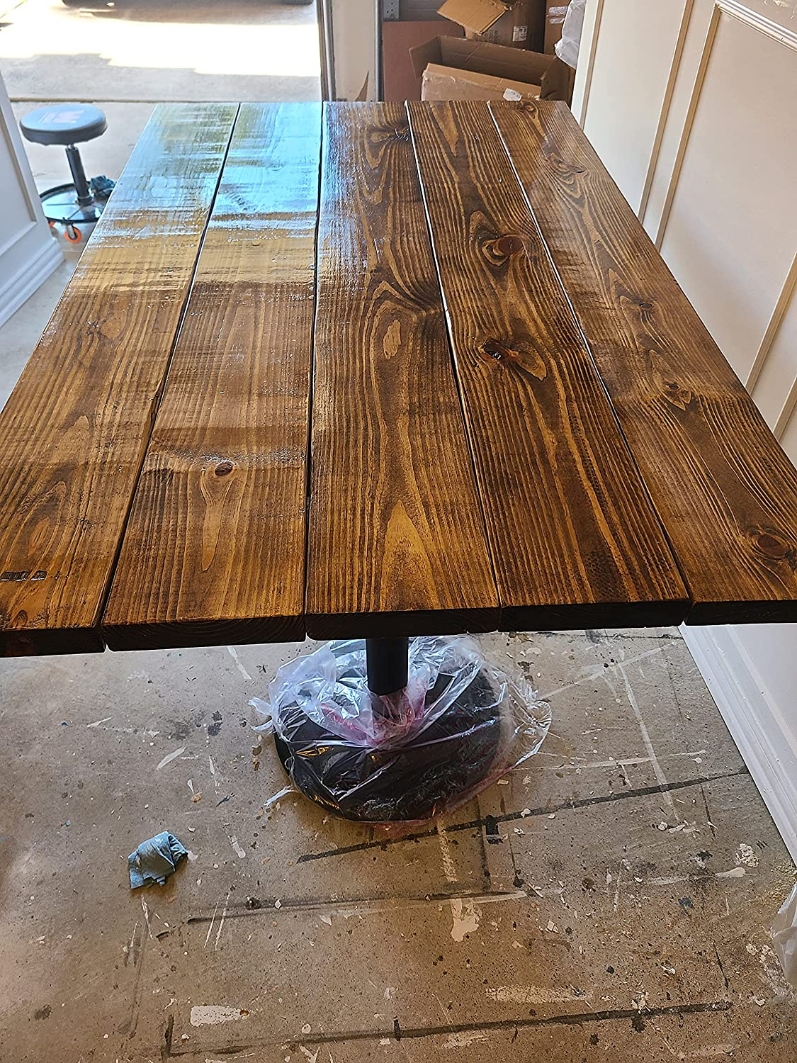 Wood Panel Dining Table half Provincial 8 4 years warranty