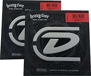 Dunlop Heavy Core Heavy 7 Electric Guitar Strings 10-60 - 2 Pack
