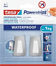 tesa Powerstrips Waterproof Hooks S metal-plastic