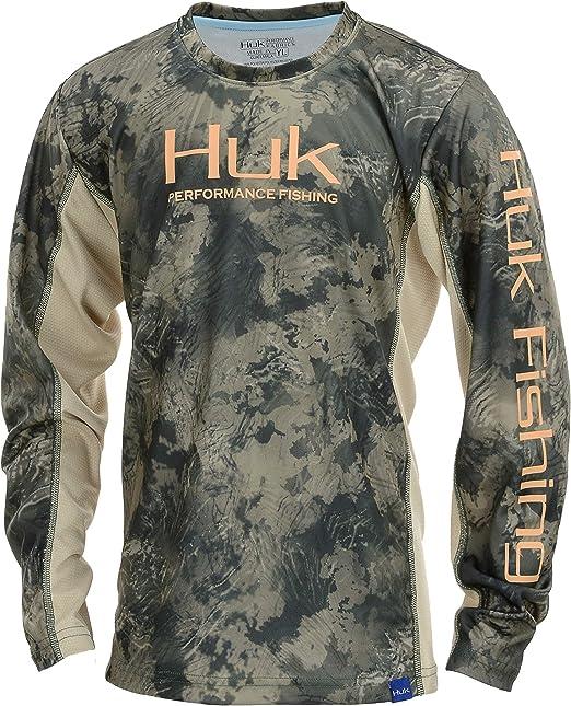 HUK Herren Icon Camo Long Sleeve Shirt Lang/ärmelig