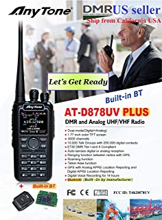 AnyTone AT-D878 Plus GPS with Built-in Bluetooth and Free Items !! Updated firmware Upgraded 3100mAh Battery Dual Band DMR/Analog 144 & 480 MHz Radio
