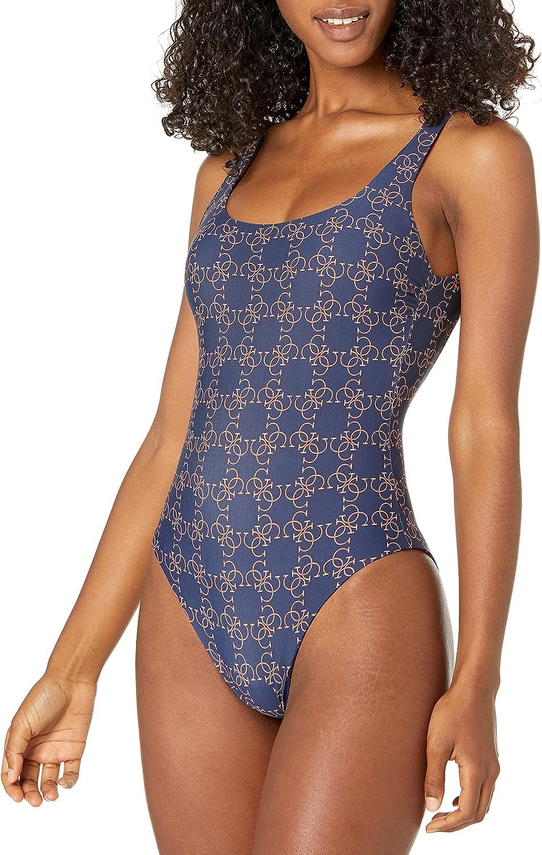 GUESS Women's Standard Logo Onepiece Swimsuit