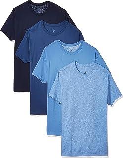 Hanes Men's 4-Pack FreshIQ Odor Control ComfortSoft Crewneck T-Shirt