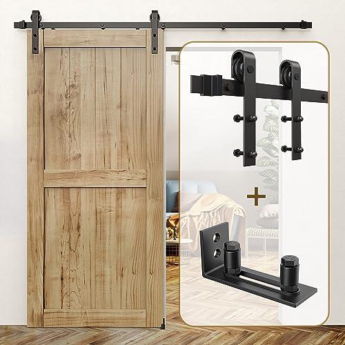 lowest ROOMTEC Sliding Barn Door Hardware Kit 6ft & Sliding Barn Door Bottom online Floor 2021 Guide outlet sale