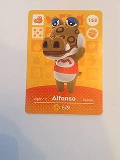 Nintendo Animal Crossing Happy Home Designer Amiibo Card Alfonso 153/200 USA Version
