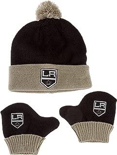 OTS NHL Infant Pow Pow Knit Cap & Mittens Set