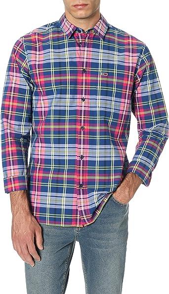 Tommy Hilfiger TJM Essential Big Check Shirt Camisa Casual para Hombre