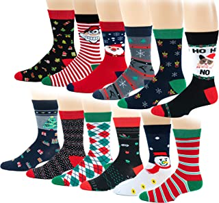 12 Pairs / 6 Pairs Men Colorful Fashion Design Dress socks 10-13