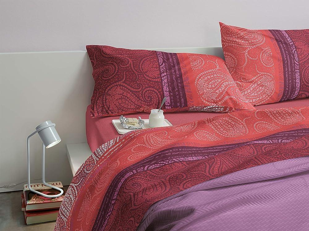 Bassetti,completo per letto matrimoniale, serie dream,100% cotone di alta qualità Sultana