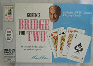 VINTAGE GOREN'S BRIDGE FOR TWO - MADE BY MILTON BRADLEY IN 1964 (MODEL 4401 - INCLUDES NEW GOREN'S PLAYING CARDS) FREE SHIPPING