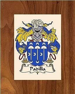 Carpe Diem Designs Padilla Coat of Arms/Padilla Family Crest 8X10 Photo Plaque, Personalized Gift, Wedding Gift