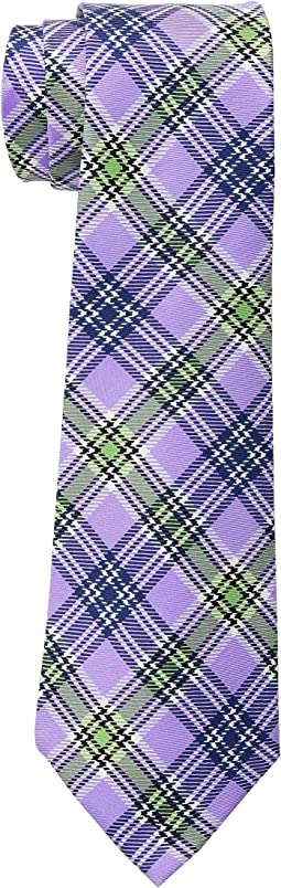 Printed Plaid Tie
