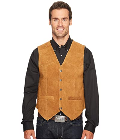 Scully Rugged Calf Suede Vest (Rust) Men