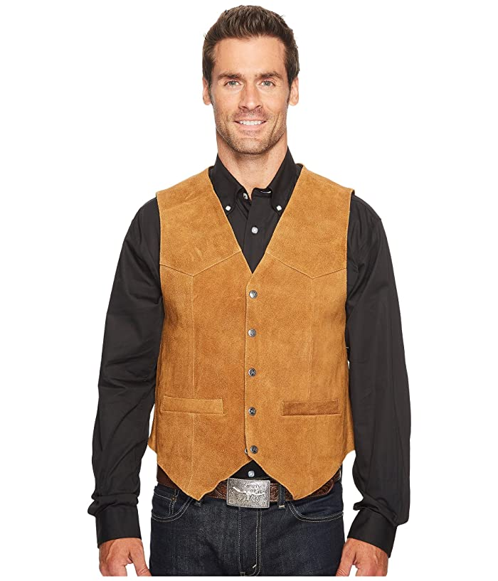 Scully  Rugged Calf Suede Vest (Rust) Mens Vest
