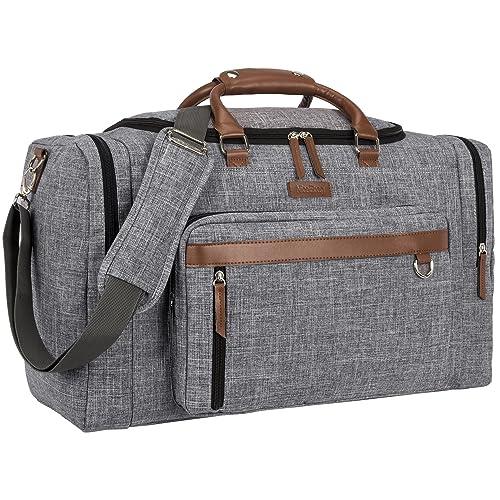 NiceEbag Vintage Duffel Bag Water-Resistant Weekender Duffle Travel  Organizer Bag Volleyball Gym Bag Overnight 6e59e21e84