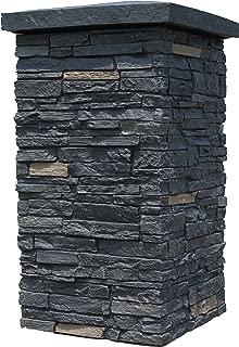 NextStone Faux Polyurethane Stone Column Wrap - Onyx