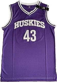 Kenny Tyler #43 Huskies The 6th Man K.Tyler Movie Basketball Jersey Purple