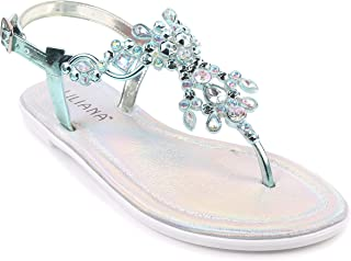 Narrow Fashion Sexy Blink Slingbacks Ankle Strap Rhinestones Womens T-Strap Thong Sandals Flat Shoes New Without Box