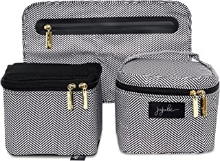 JuJuBe Be Equipped Pumping Accessories Set, Legacy Collection - The Queen of The Nile - Black/White Chevron