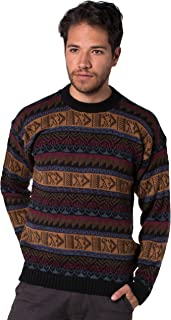 Gamboa - Alpaca Round Neck Sweater for Men - Dark Tones