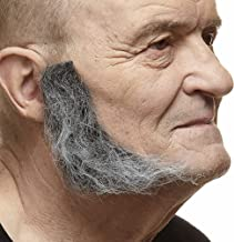 Mustaches Realistic, L Shaped Fake Mutton Chops Sideburns