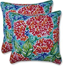 "Pillow Perfect Outdoor/Indoor Garden Blooms Multi Throw Pillows, 16.5"" x 16.5"", Pink, 2 Pack"