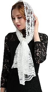 Catholic Mantilla Veils for Mass Head Covering Lace Church Headscarf S06L