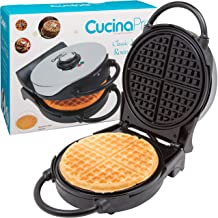 Waffle Maker- Non-Stick Classic American Waffler Iron with Adjustable Browning Control- Beeps when Read- Not Belgium Style