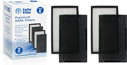 Fette Filter - True HEPA Filter Compatible with GermGuardian FLT4100 Models AC4100/AC4150BL/AC4150BL Air Purifiers (Filter E)
