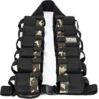 Hops Holster Ammo Pack - Insulated Vest/Belt Holds 12 Beer Cans - Camouflage