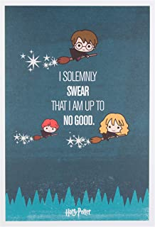Harry Potter I Solemnly Swear That I Am Up To No Good Birthday Card