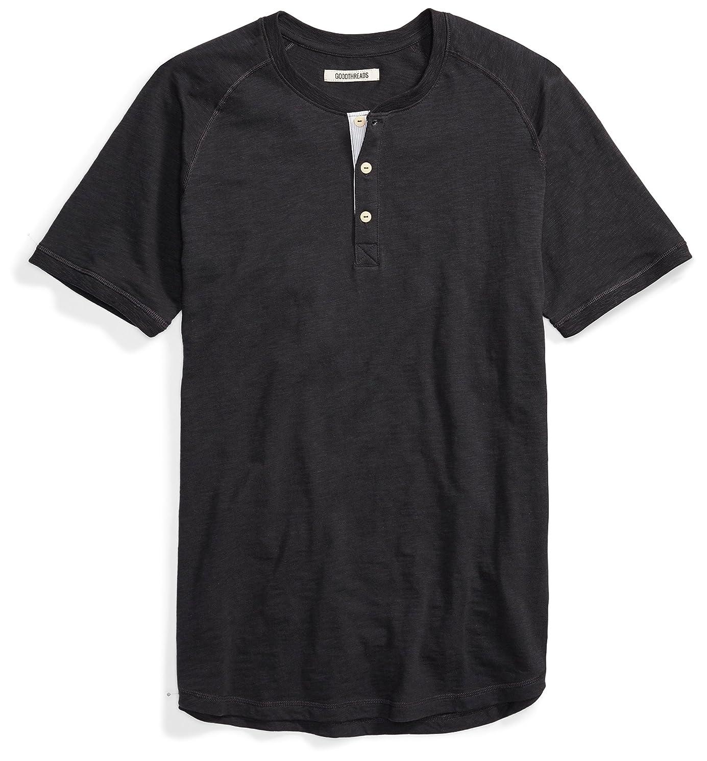 Amazon Brand - Goodthreads Men's Short-Sleeve Lightweight Slub Henley