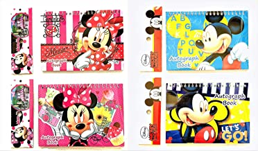 Party Favors Disney Mickey Mouse and Minnie Autograph Note pads Book- (2 pieces Assort Mickey & Minnie)