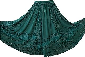 kewing Womens Butterfly Printed Skirt Flare Skirt Maxi Skirts Party Dress Long Skirt