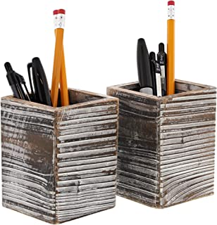 Paper Junkie Rustic Wood Pencil Holder (2 Pack)