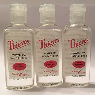 Thieves Waterless Hand Purifier 3 pack of 1 fl. oz. by Young Living Essential Oils