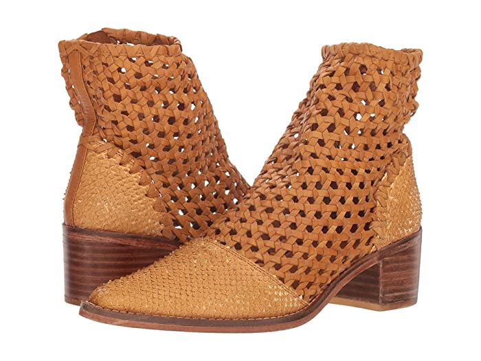 Free People  In the Loop Woven Boot (Taupe) Womens Pull-on Boots