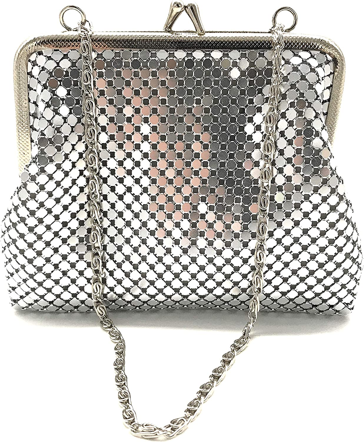 Small Women clutch Free Shipping New metal mesh purse for Hand Cocktai strap New York Mall carry