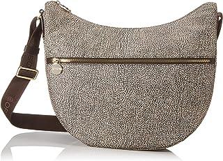 Borbonese Luna Bag Medium, Borsa a Tracolla Donna, 35x38x15 cm (W x H x L)