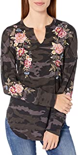 JWLA By Johnny Was Women's Long Sleeve Thermal with Embroidery